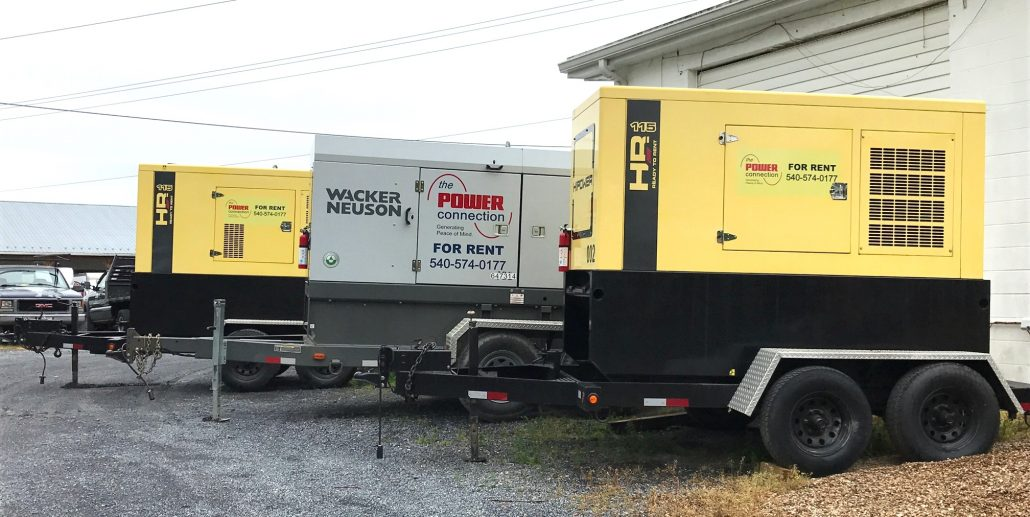our rental generator fleet
